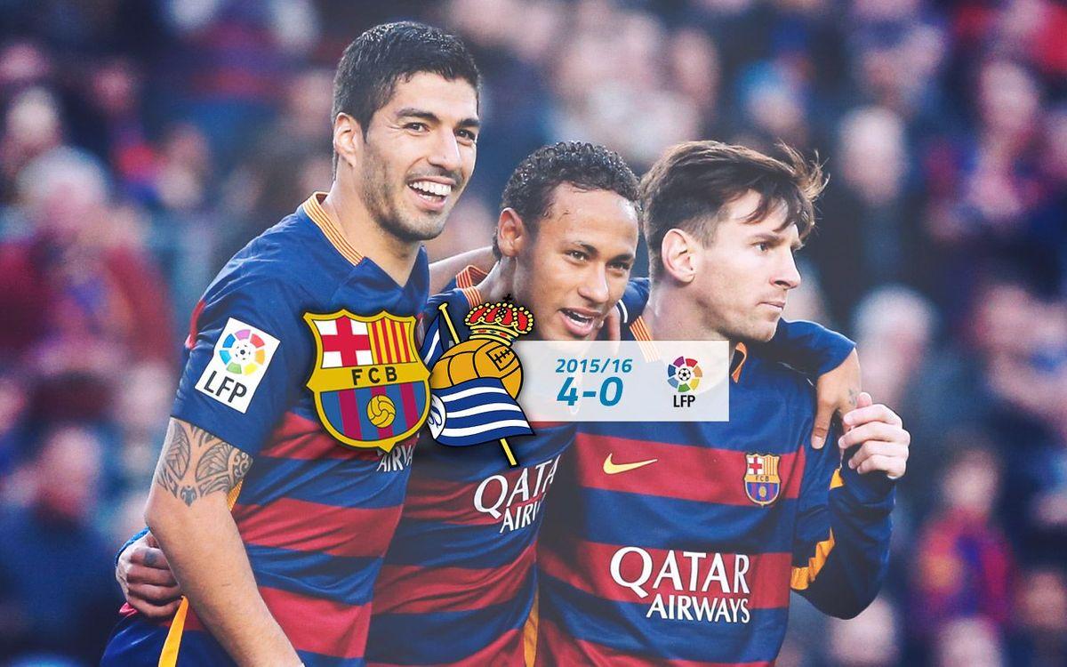 FC Barcelona: 4 - Real Sociedad: 0