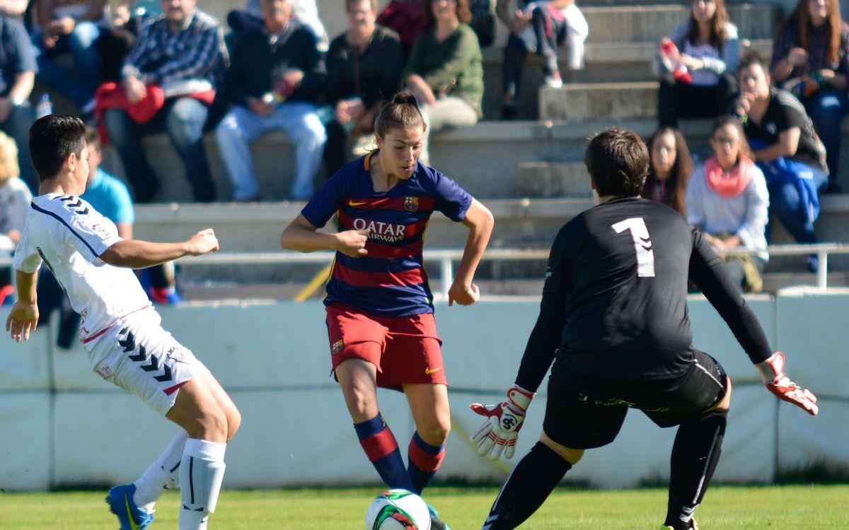 FC Barcelona Femenino - UD Collerense: A seguir la línea