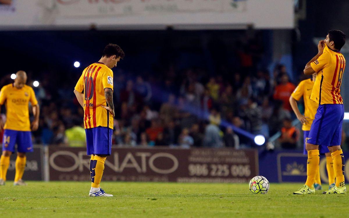 RC Celta de Vigo v FC Barcelona: Beaten at Balaídos (4-1)