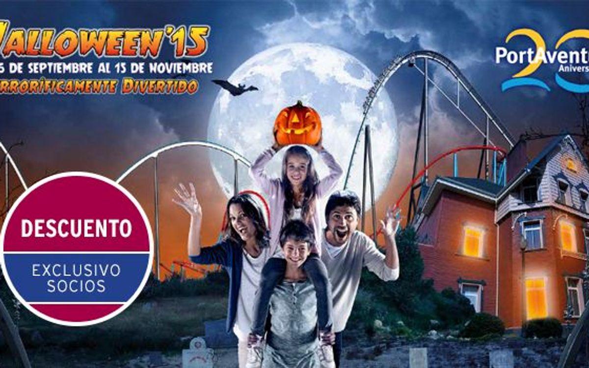 2x1 en PortAventura Halloween 2015 para los socios del FC Barcelona