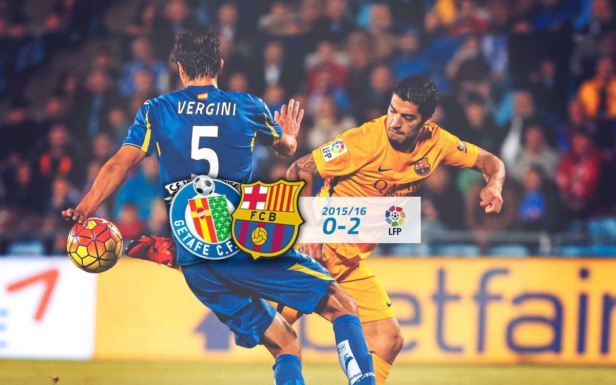 Getafe: 0 - FC Barcelona: 2