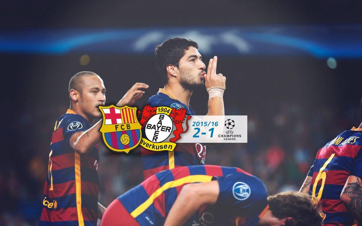 FC Barcelona: 2 - Bayer Leverkusen: 1