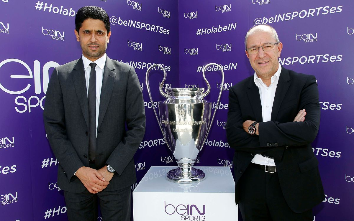FC Barcelona at the presentation of BeIN Sports