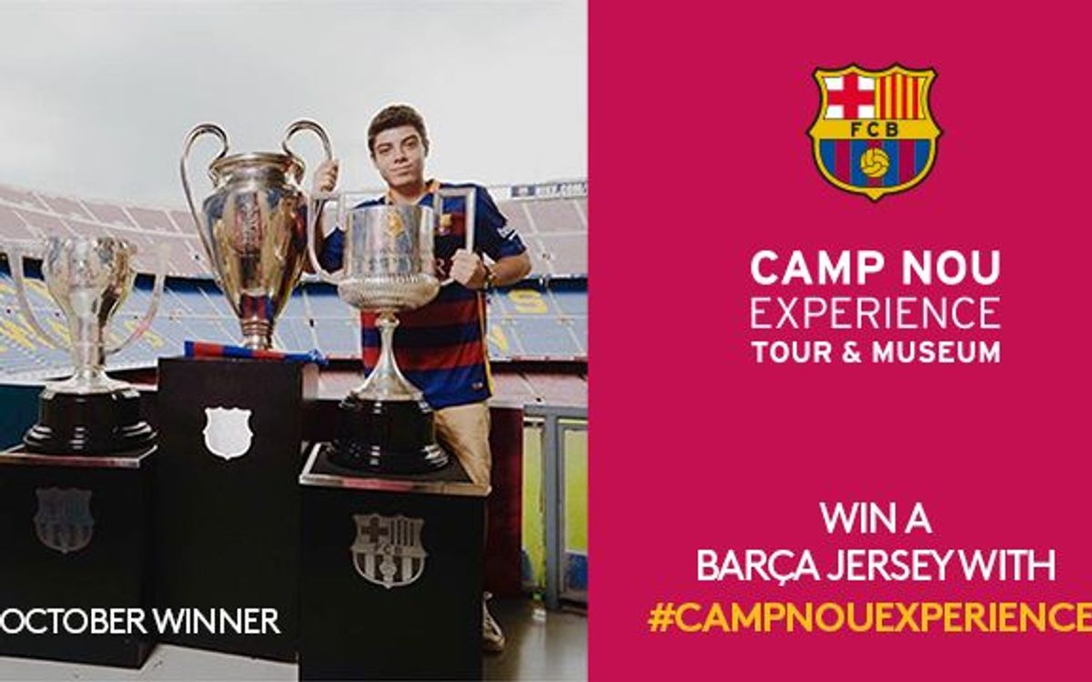 October winner of Camp Nou Experience competition