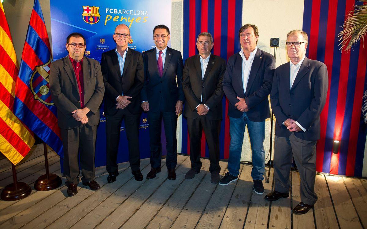 Josep Maria Bartomeu, amb la Federació de Penyes del Barcelonès Est