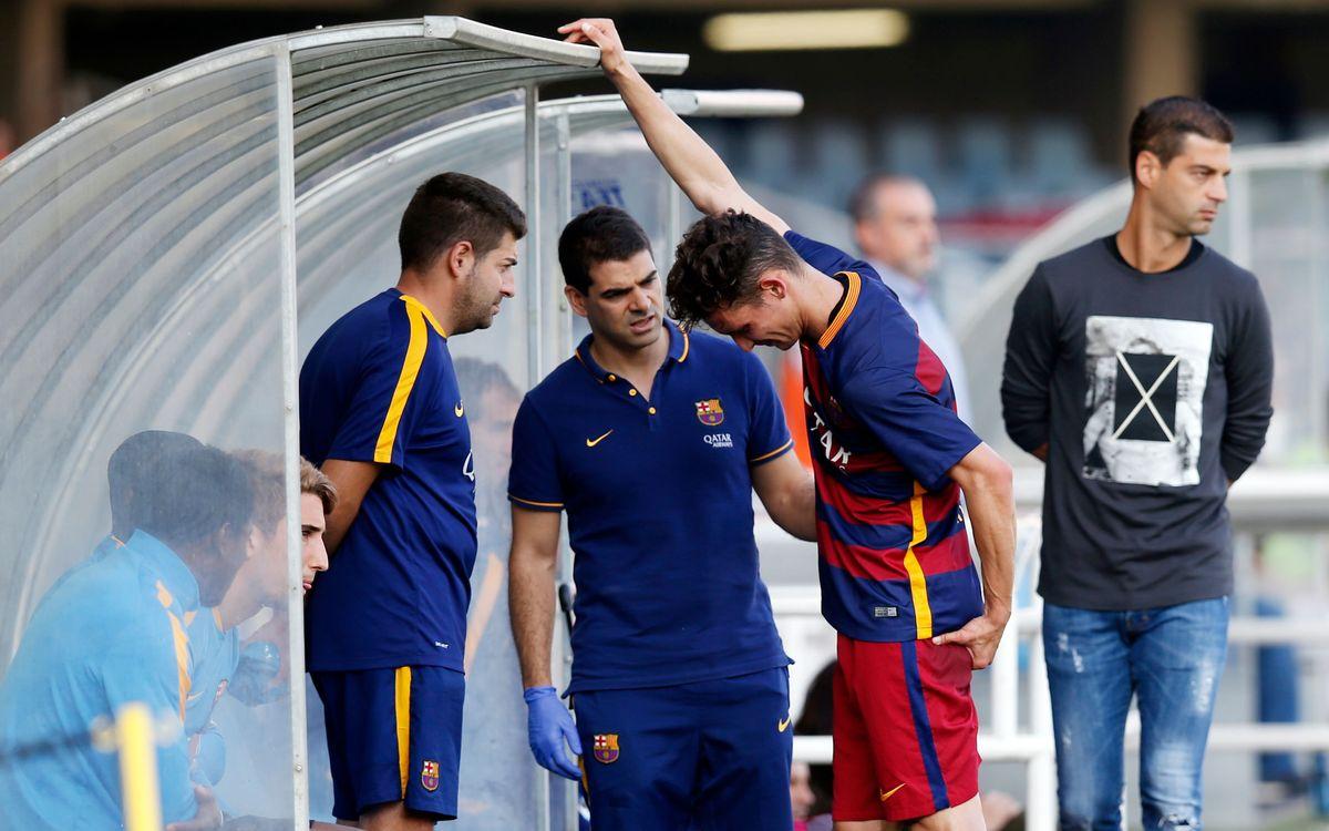 Babunski sufre una lesión en el muslo izquierdo