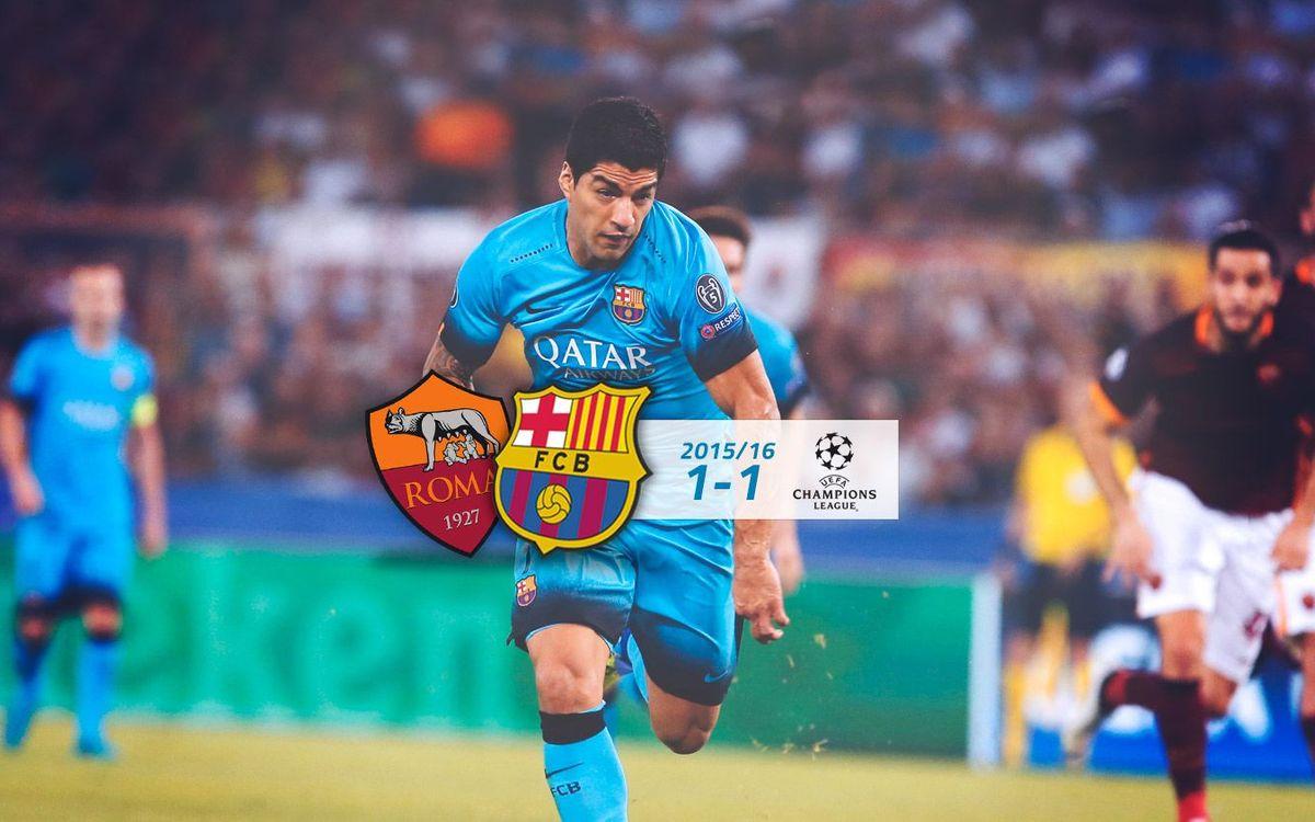 AS Roma: 1 - FC Barcelona: 1