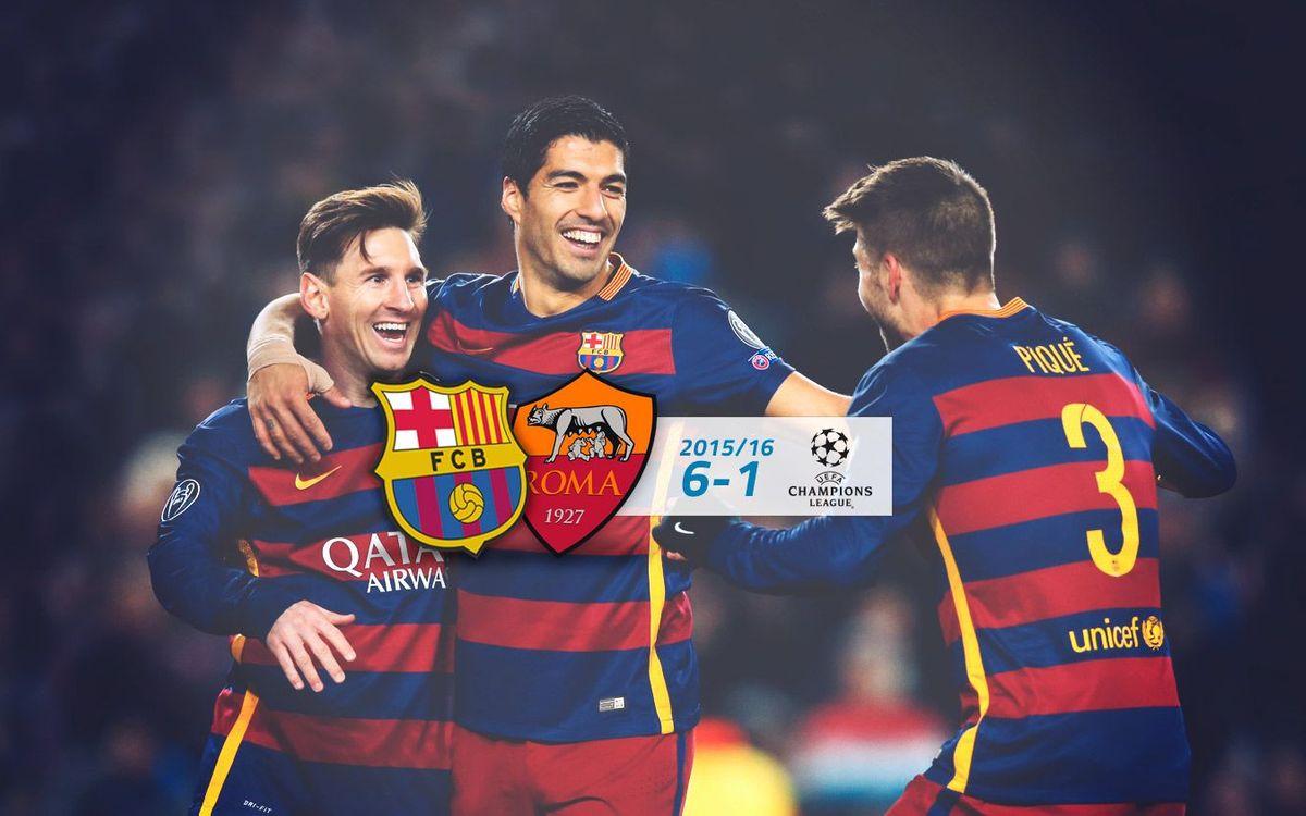 FC Barcelona: 6 - AS Roma: 1
