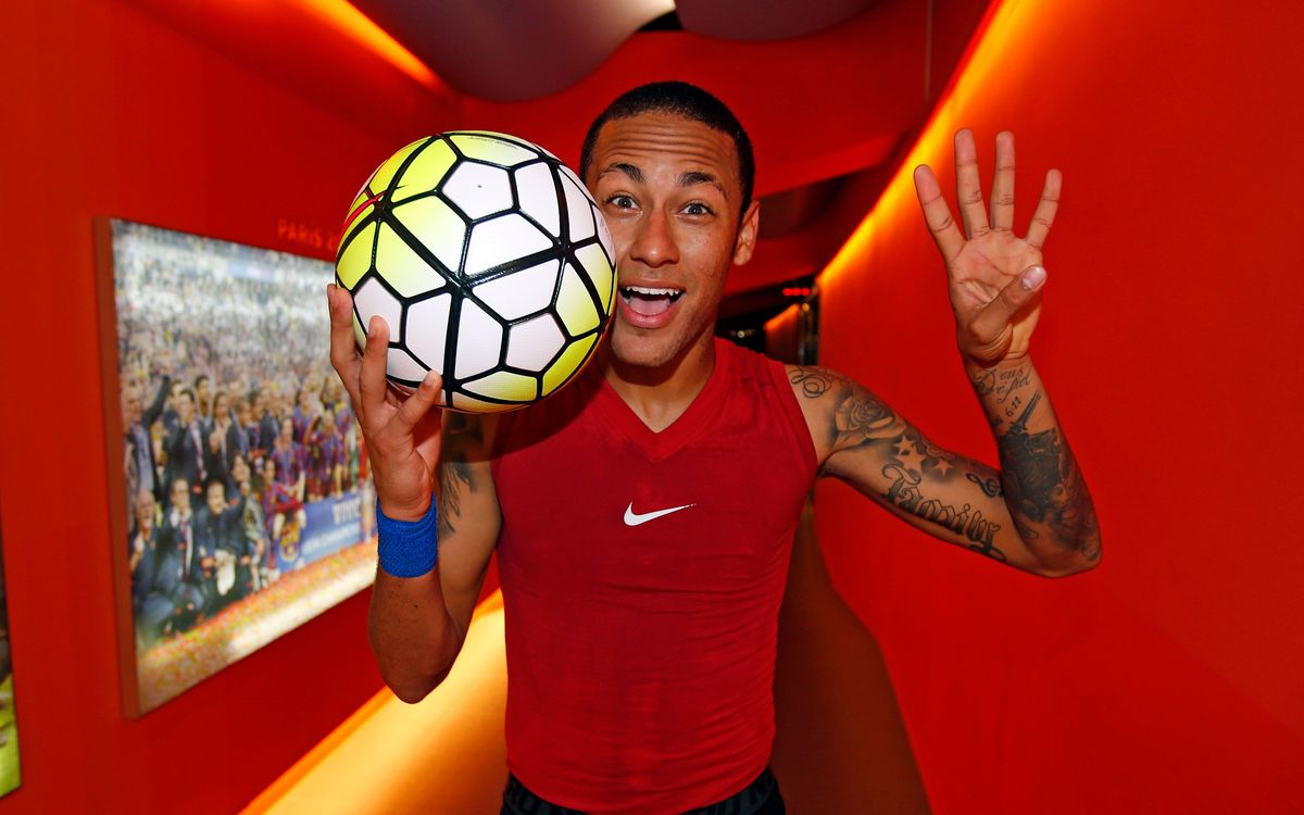 Neymar top goalscorer in the league