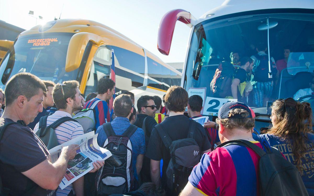 Los socios pueden viajar a Valencia en autocar por 23 €