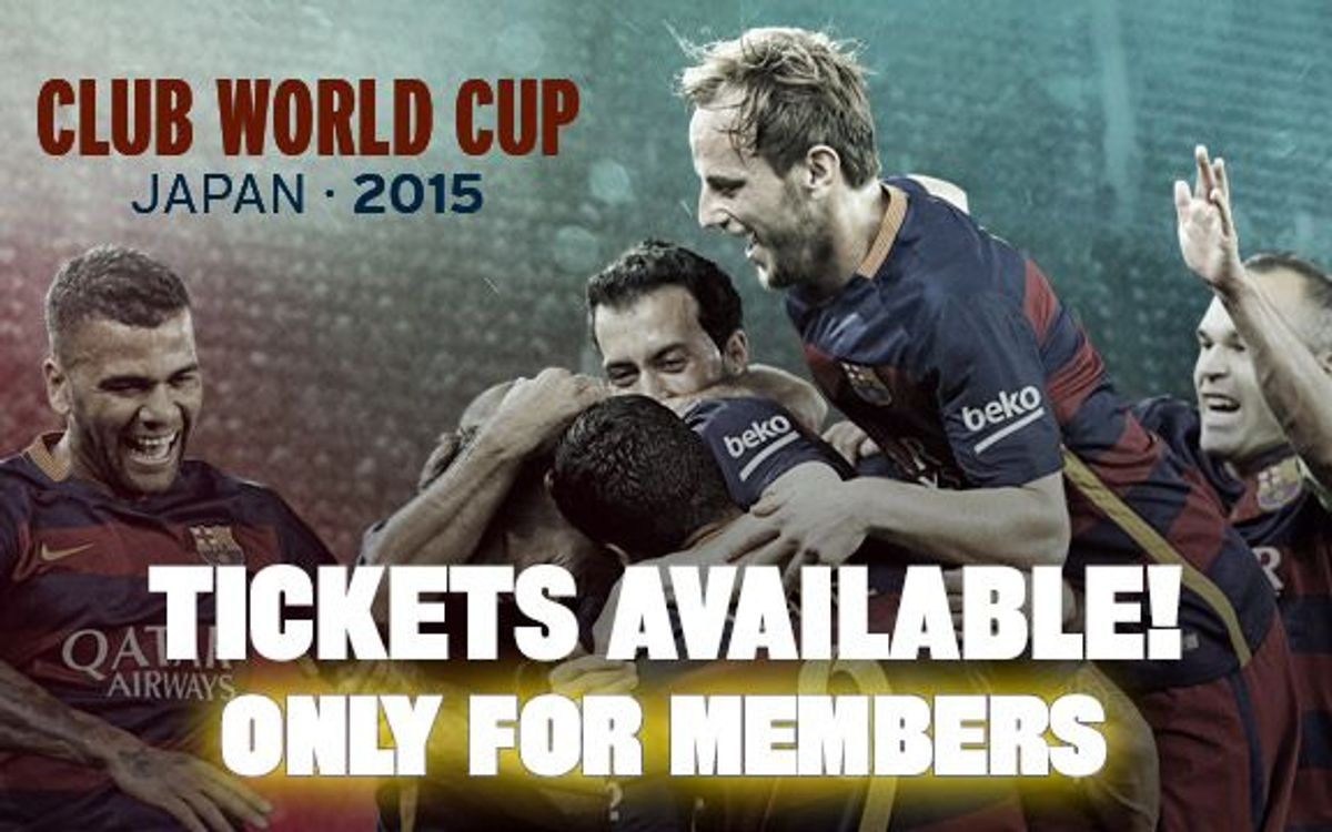 Club World Cup tickets on sale from 29 September