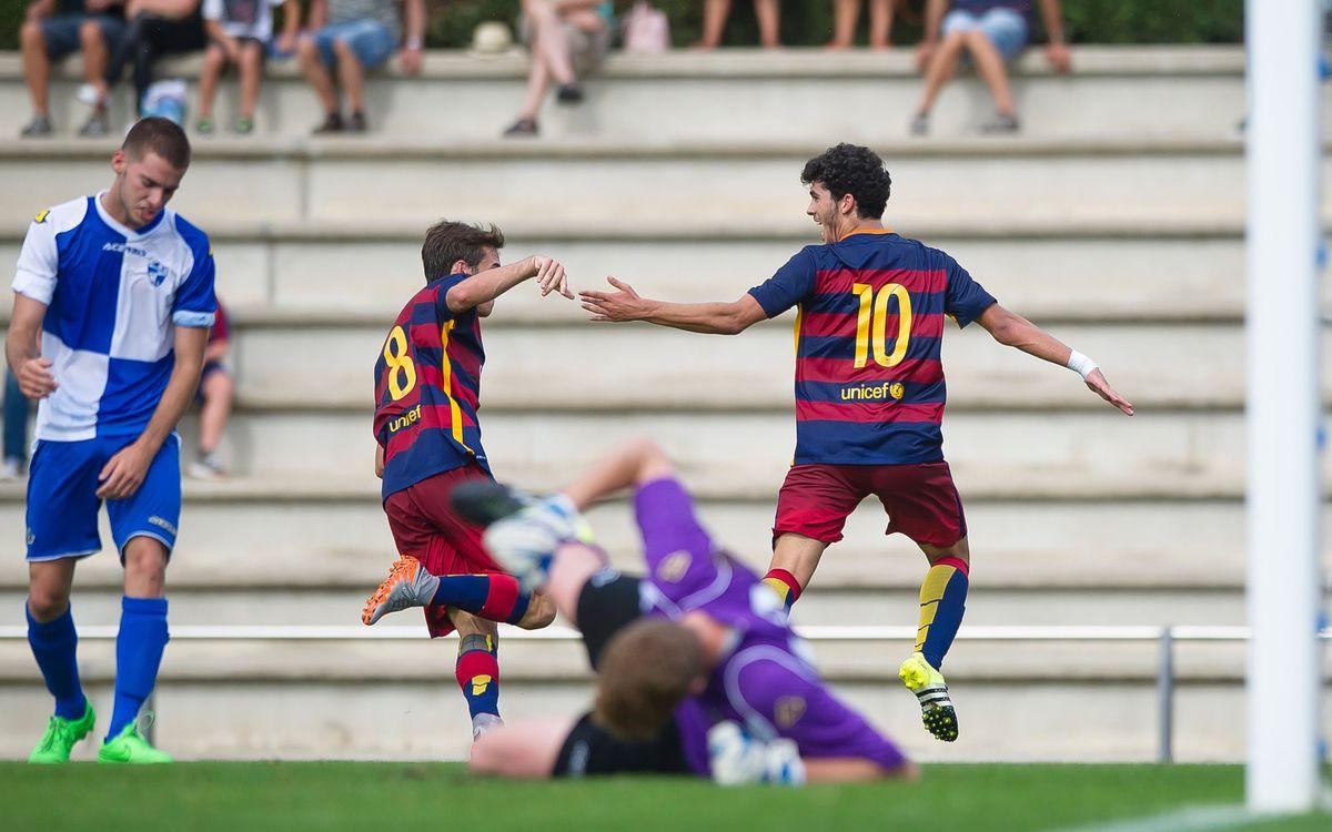 Juvenil A – CD Ebro: Golejada abans d'encetar la Champions (8-0)