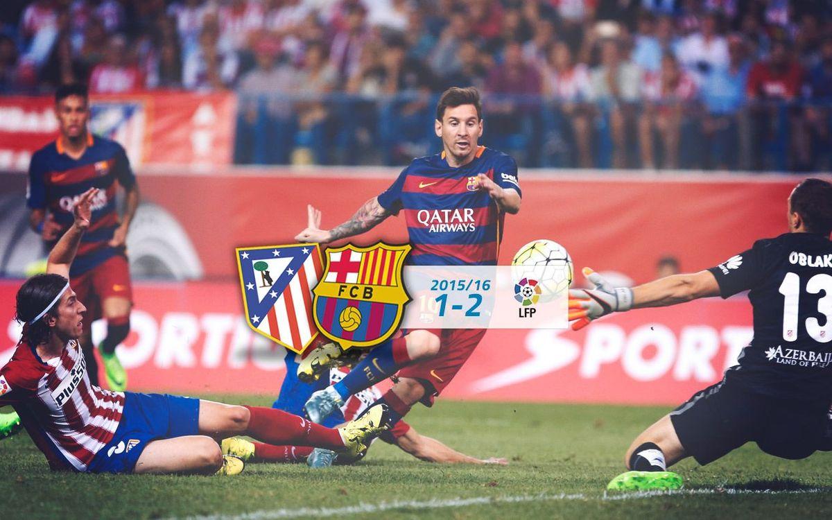 Atlètic de Madrid: 1 - FC Barcelona: 2
