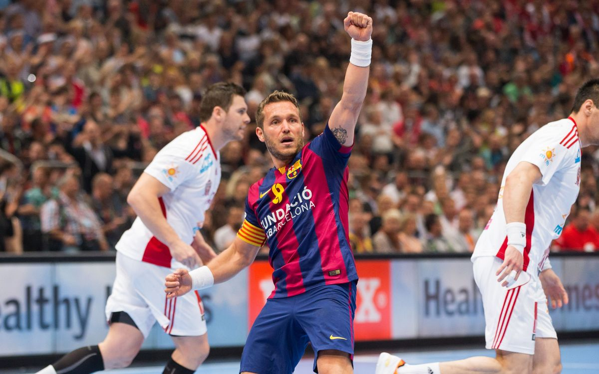 FC Barcelona are European champs with 28-23 victory over MBK Veszprem in Cologne