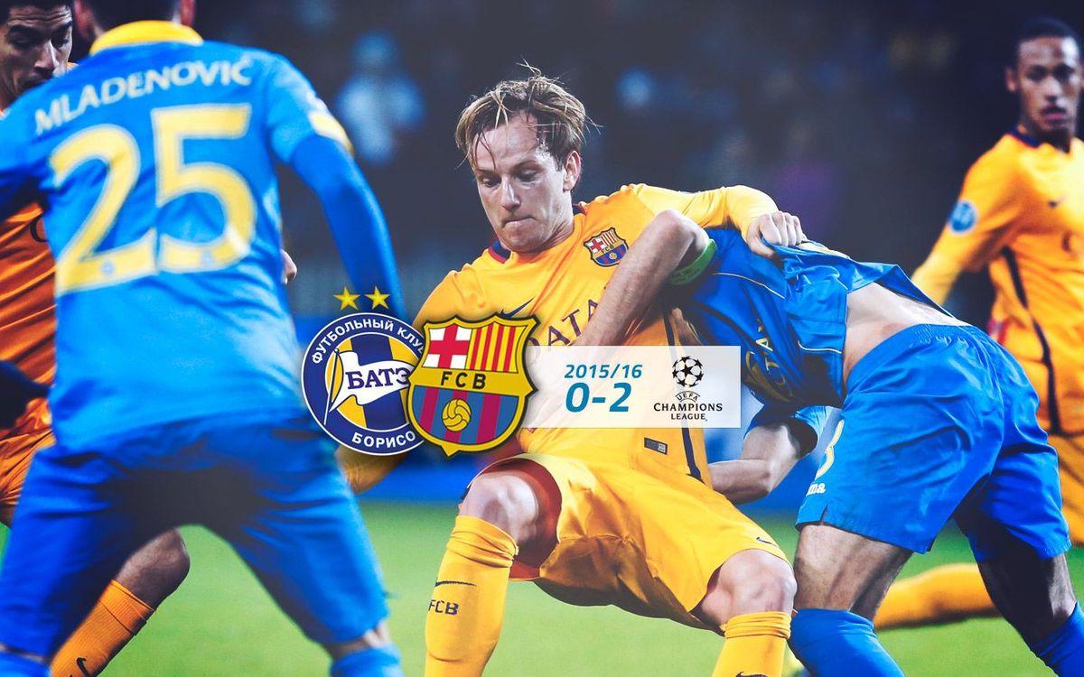 BATE Boríssov: 0 - FC Barcelona: 2
