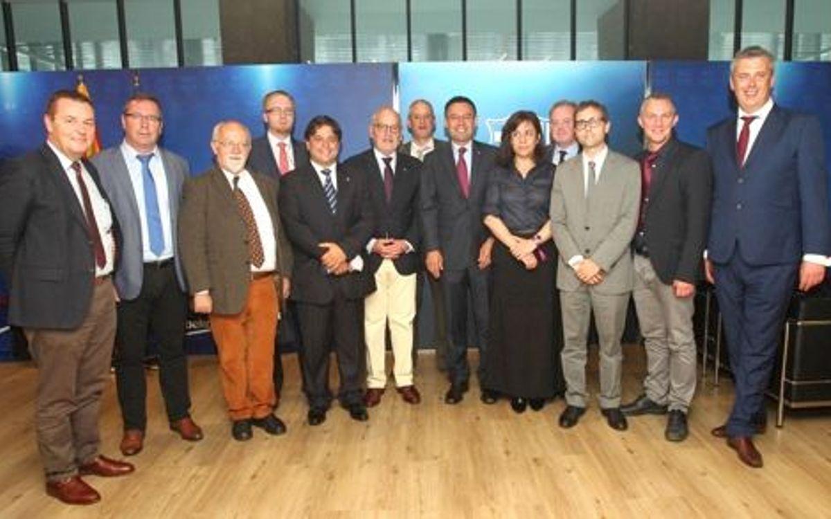 El Barça rep els diputats internacionals que seguiran les eleccions
