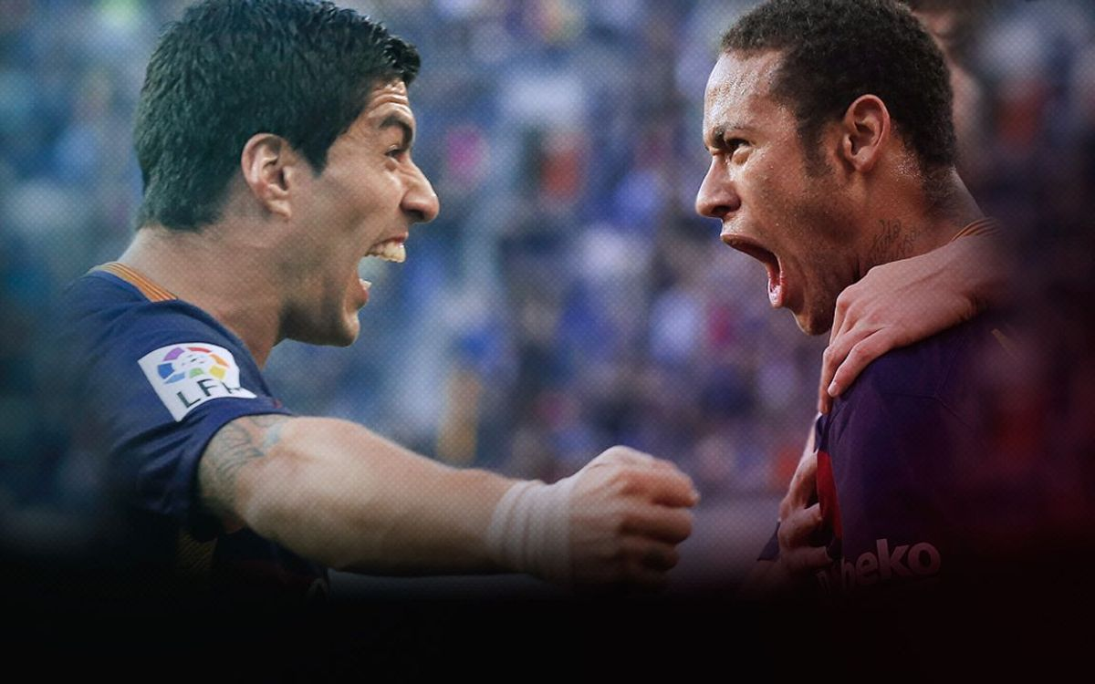 Neymar and Luis Suárez top goalscorers in the league