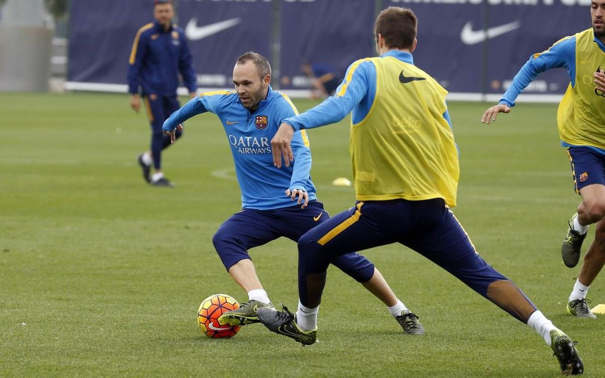 Training schedule ahead of Copa del Rey return