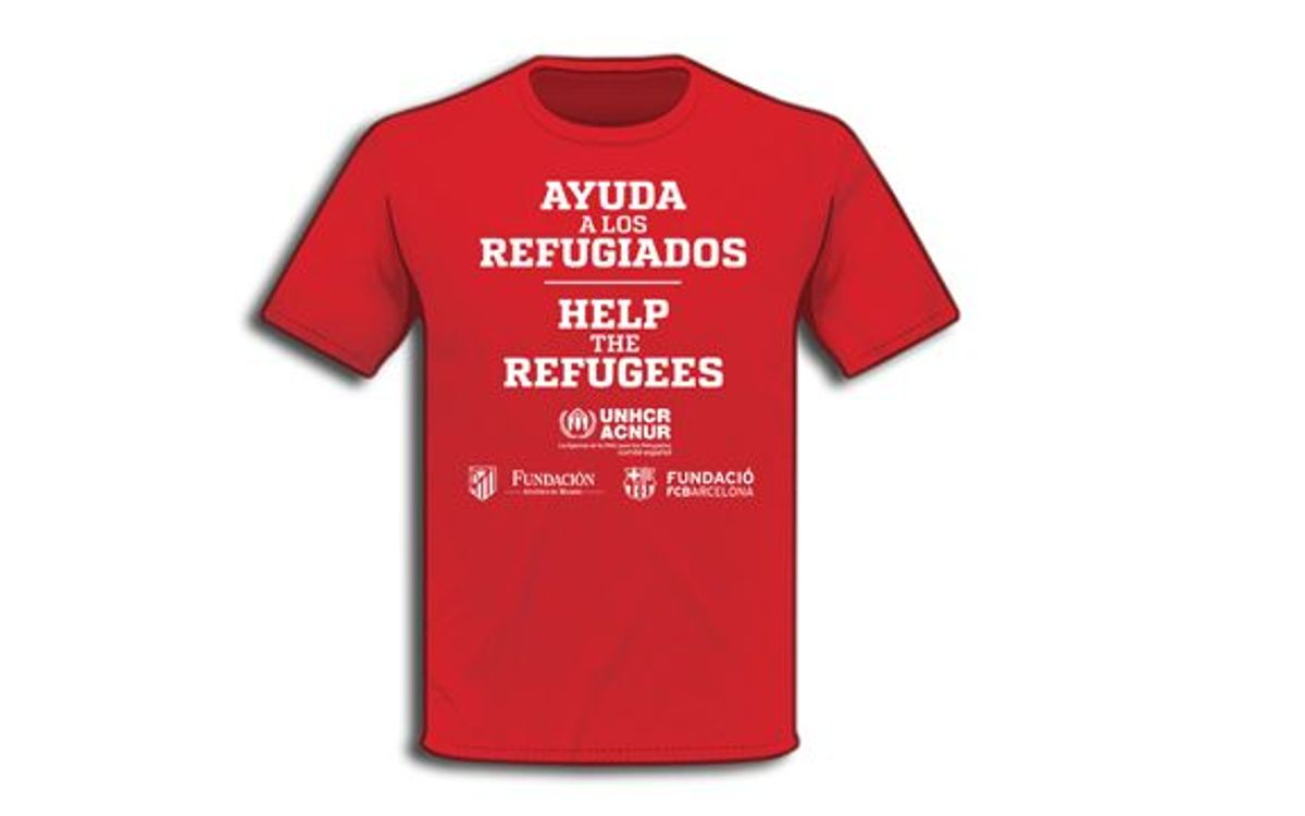 FC Barcelona and Atlético Madrid to wear shirt in support of refugees