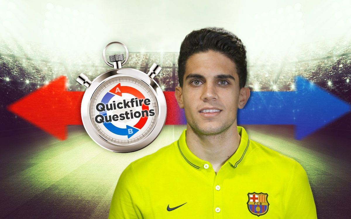 Quickfire questions with Marc Bartra
