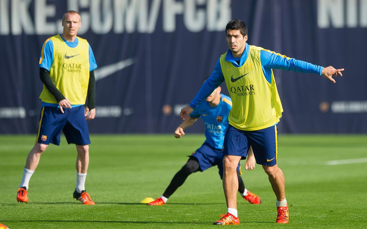 Training agenda for the week of the Clásico