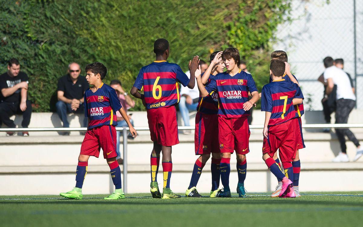 Ple de victòries del futbol formatiu