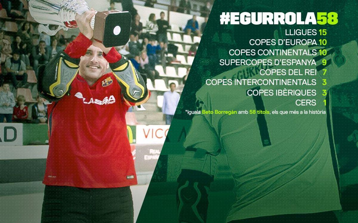Aitor Egurrola iguala Beto Borregán amb 58 títols a la secció d'hoquei
