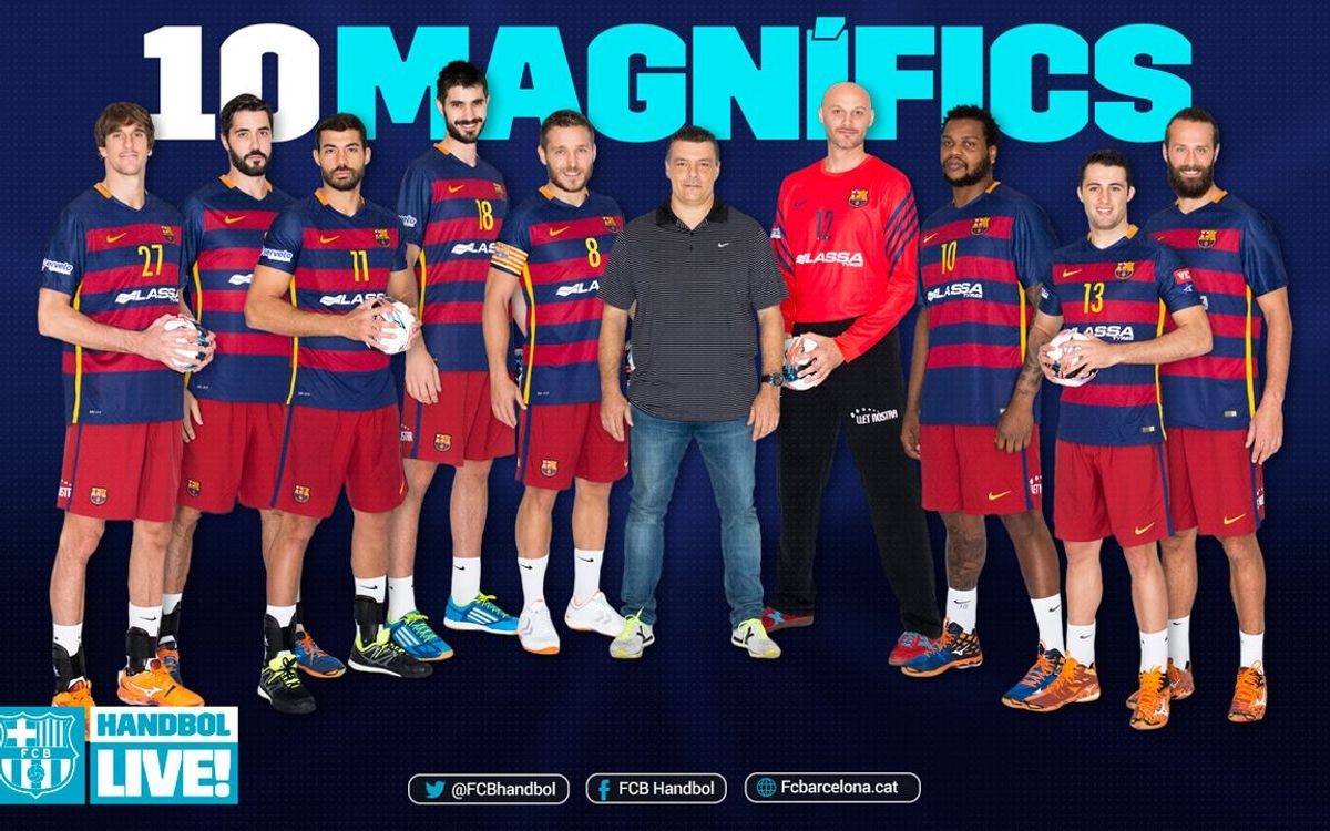 Els 10 magnífics del Barça Lassa d'handbol