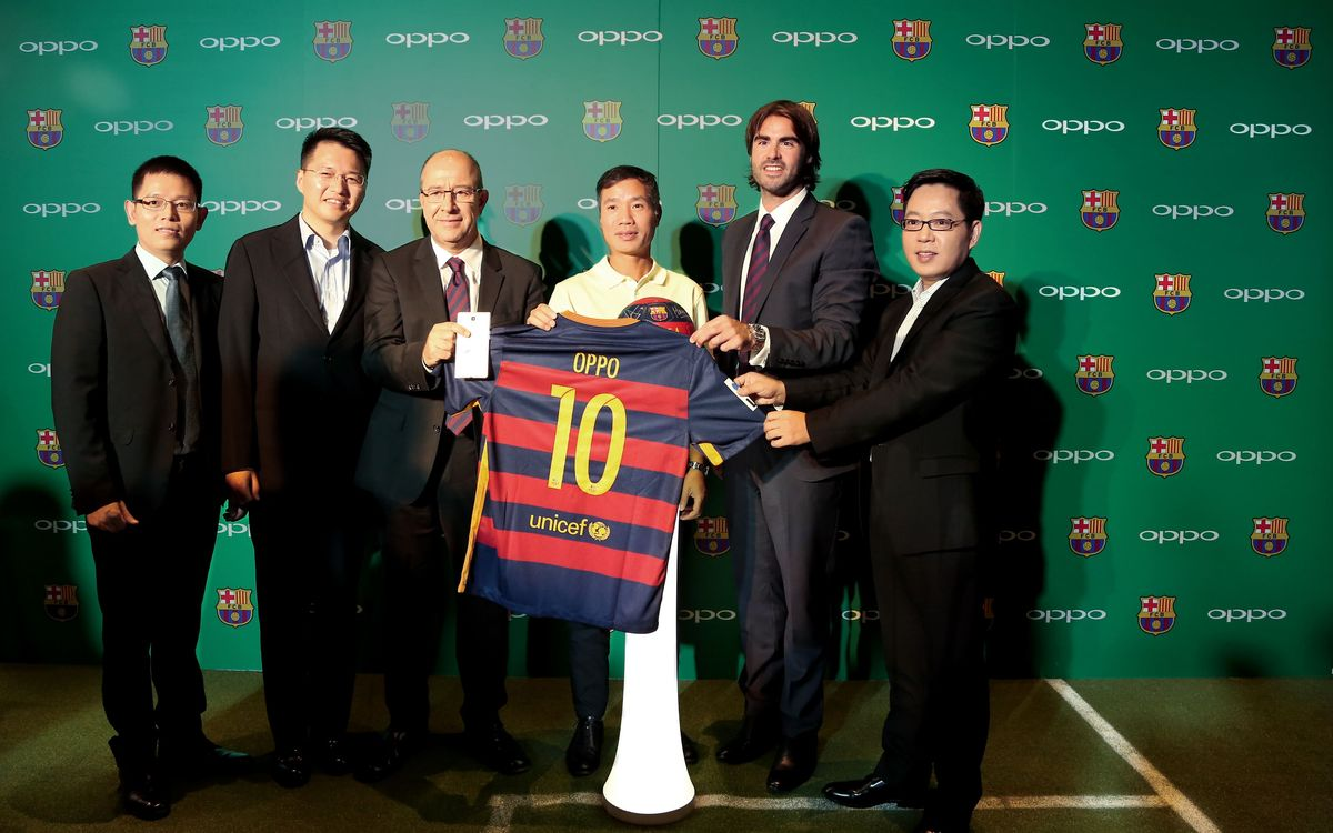 OPPO presented as official sponsor of FC Barcelona in Beijing