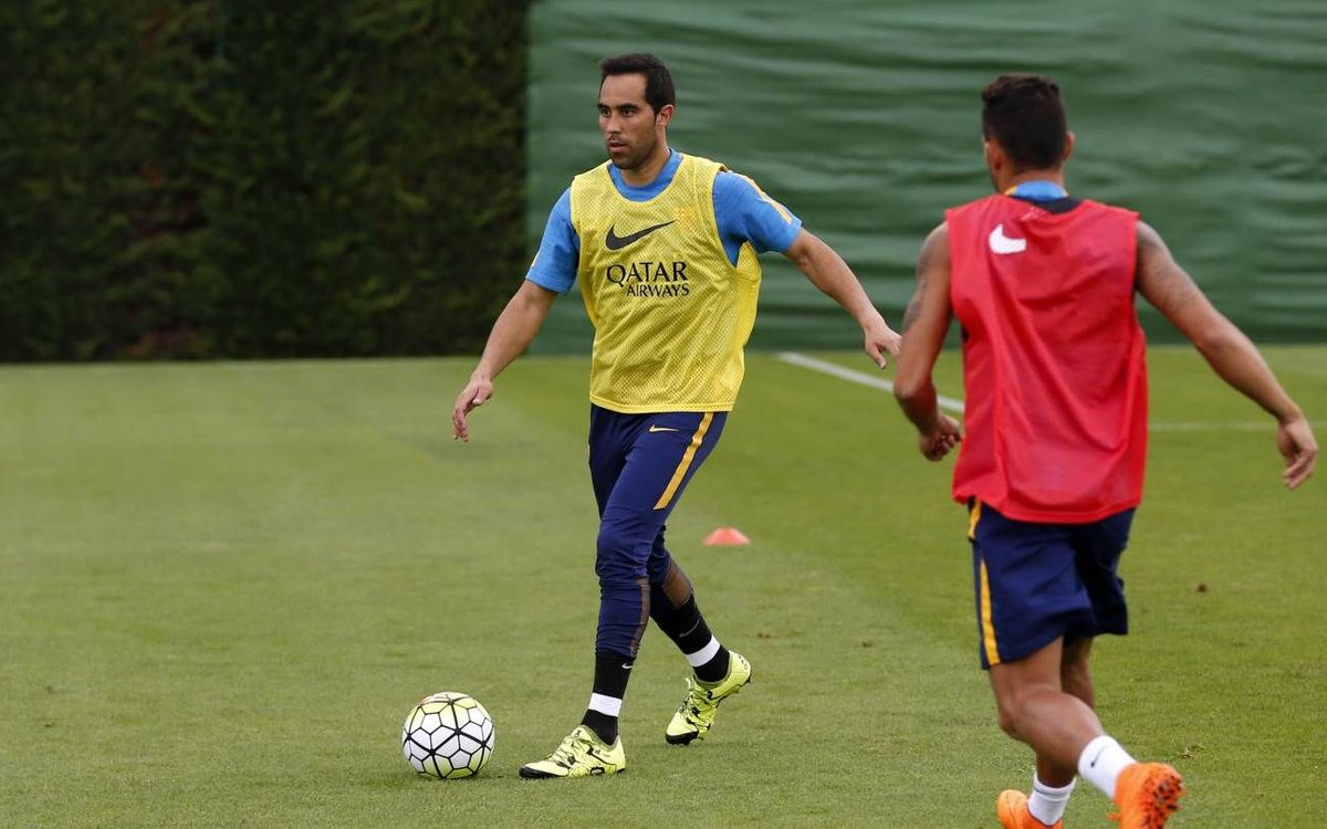 Claudio Bravo out with left calf strain