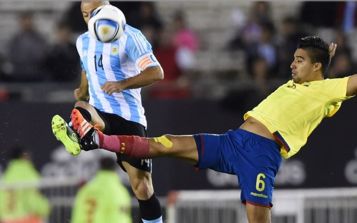 Bravo and Chile top Alves and Brazil; Mascherano and Argentina fall to Ecuador