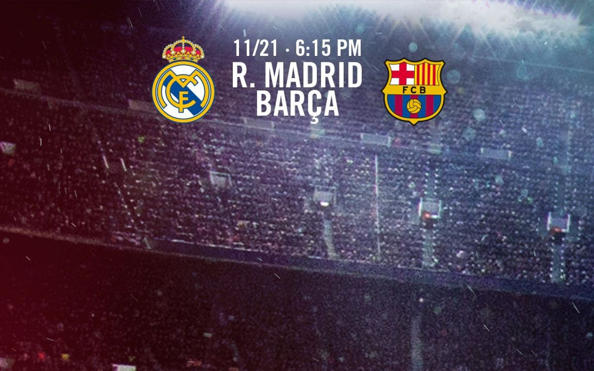 Ticket applications for FC Barcelona's game at Real Madrid, starting Tuesday