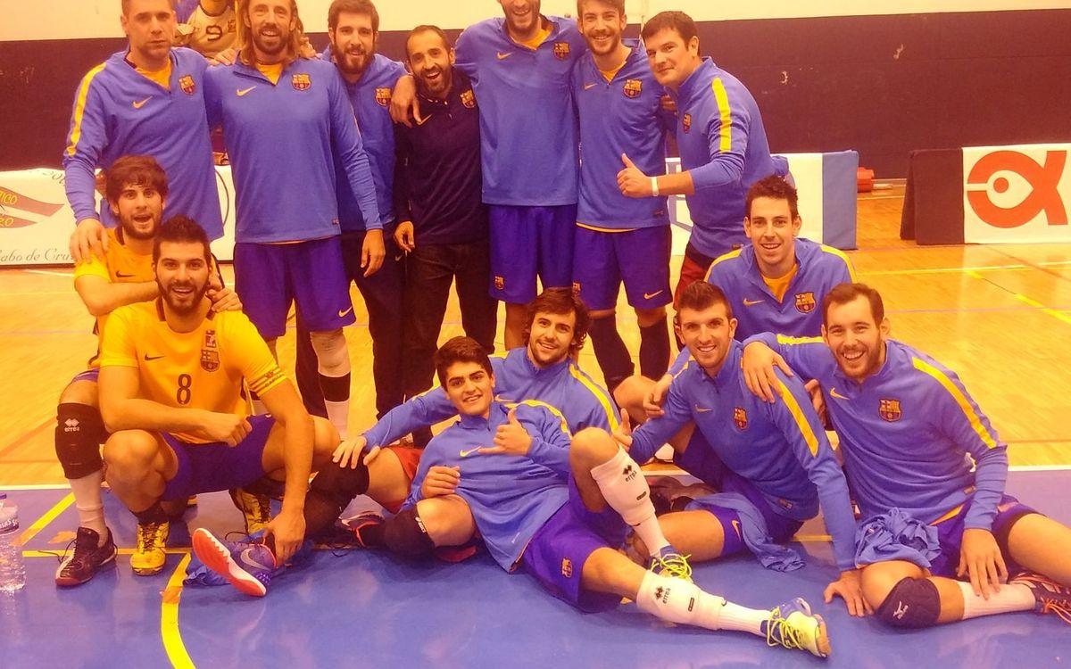 Brillant triomf a domicili del Barça de voleibol (1-3)