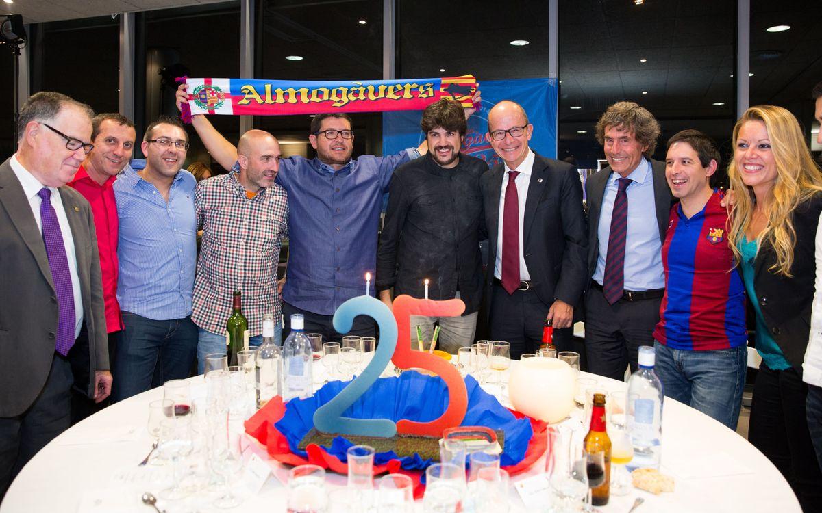 La Penya Almogàvers celebra el seu 25è aniversari al Camp Nou