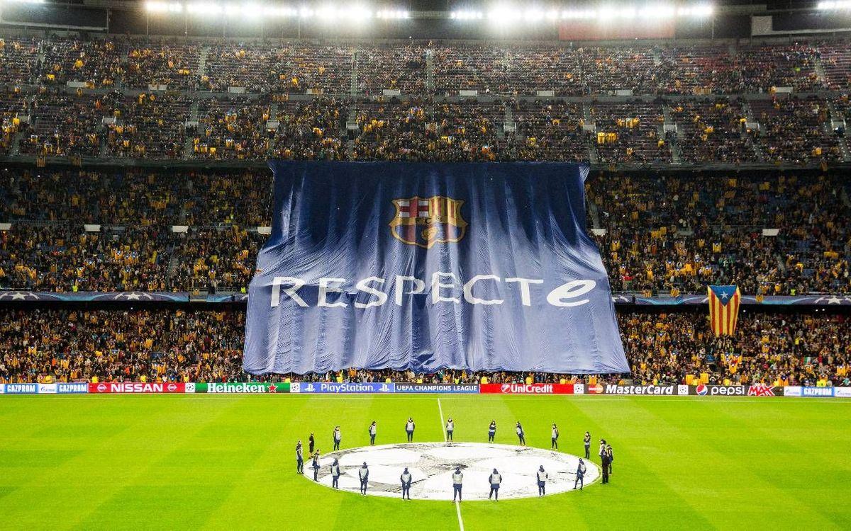 FC Barcelona demands respect