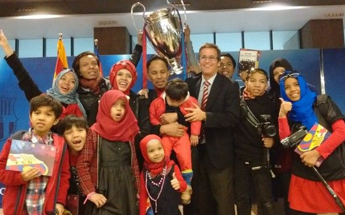 Indonesia's famous Halilintar family visits FC Barcelona