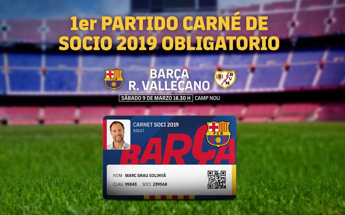 Imprescindible el carné de socio del 2019 para el próximo partido del Camp Nou