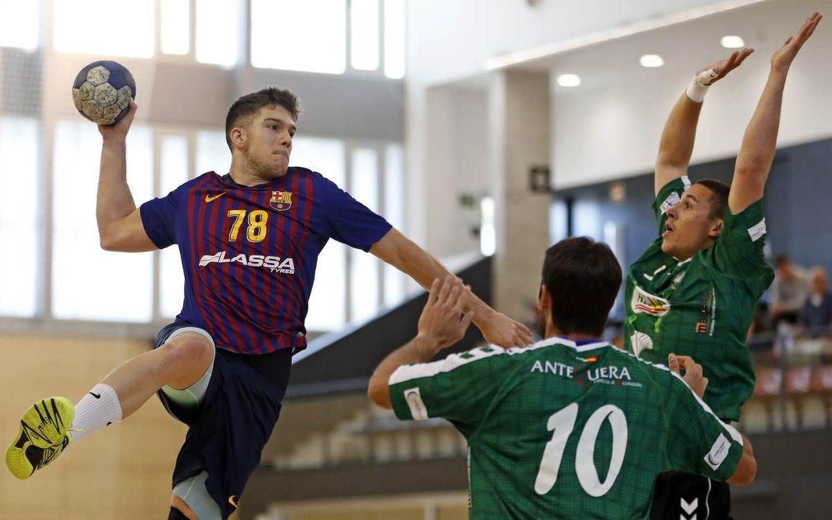 Barça Lassa B - Conservas Alsur Antequera: Derrota clara que rompe la racha en casa (23-33)