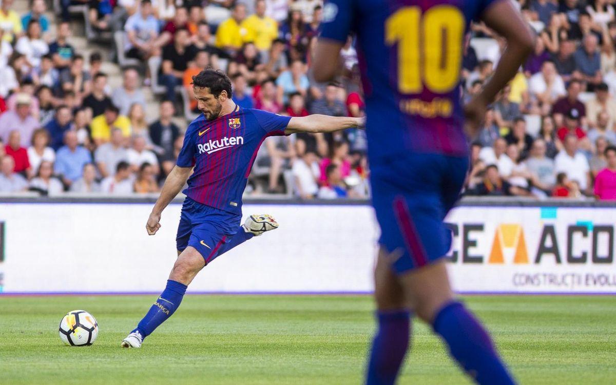 Juliano Belletti, durant un partit amb els Barça Legends.