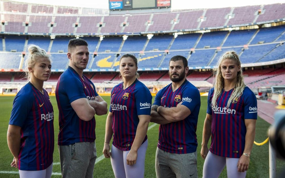 Crossfit stars visit the Camp Nou
