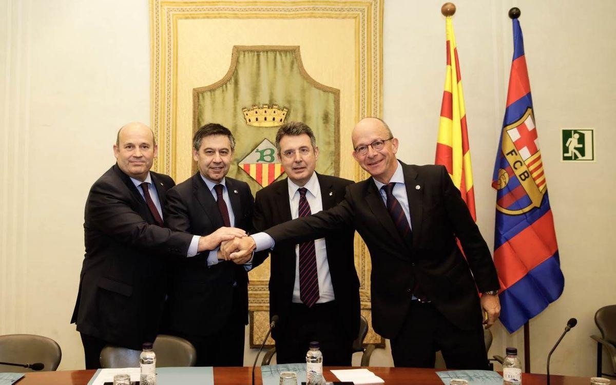 El FC Barcelona renueva el acuerdo de colaboración con el Ayuntamiento de Banyoles