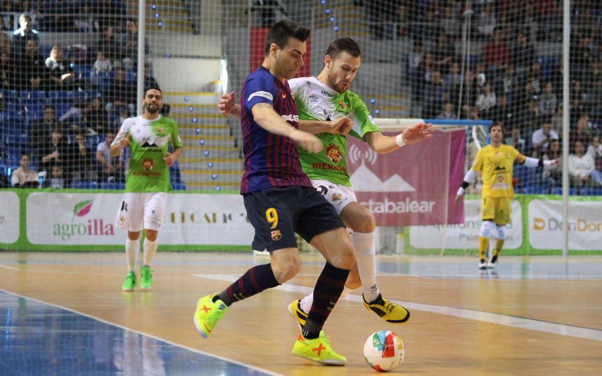 Palma Futsal 3–2 Barça Lassa: Unlucky defeat