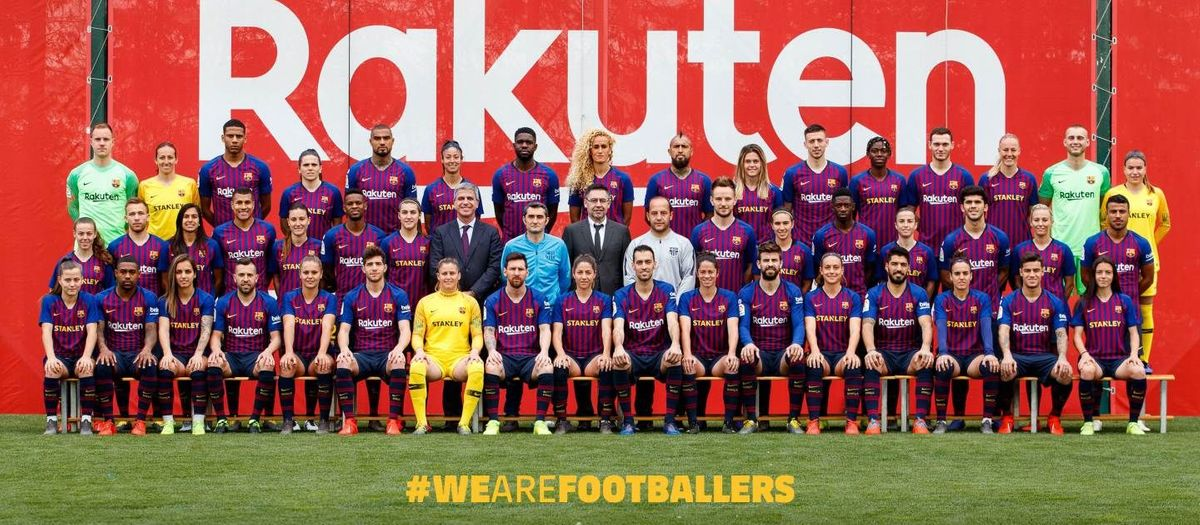 La photo de famille du Barça