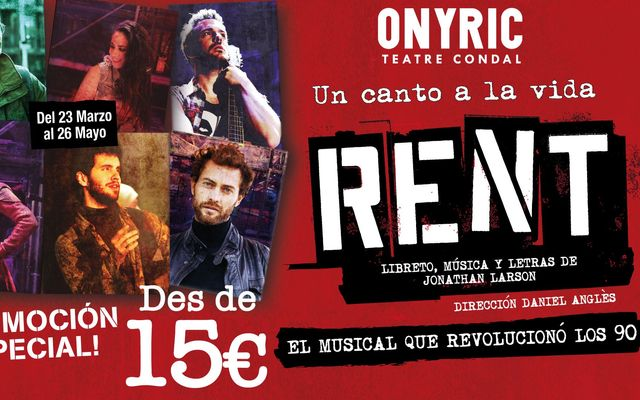 Descuento para asistir a la ópera rock RENT 5901f3885ab