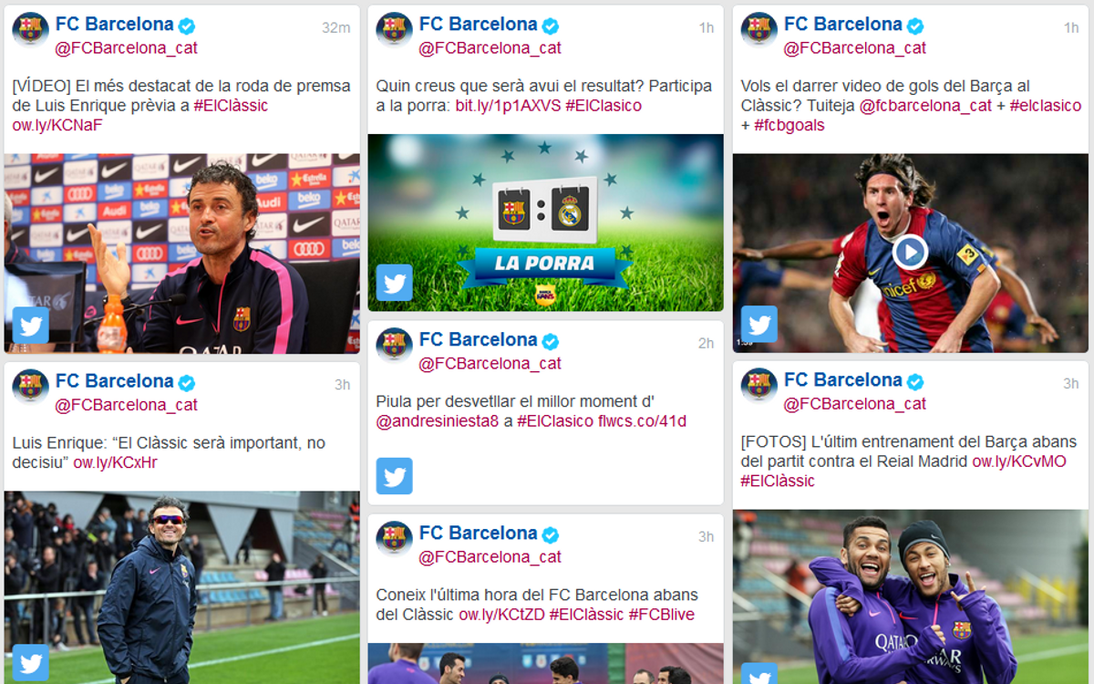 Follow El Clásico on any and all of FC Barcelona's official channels