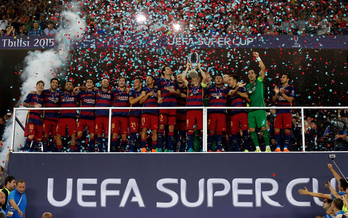 FC Barcelona v Sevilla FC: Fourth title of 2015 (5–4)