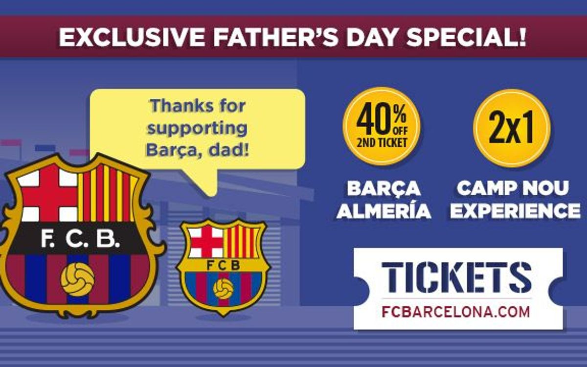 Exclusive Fathers Day promotion