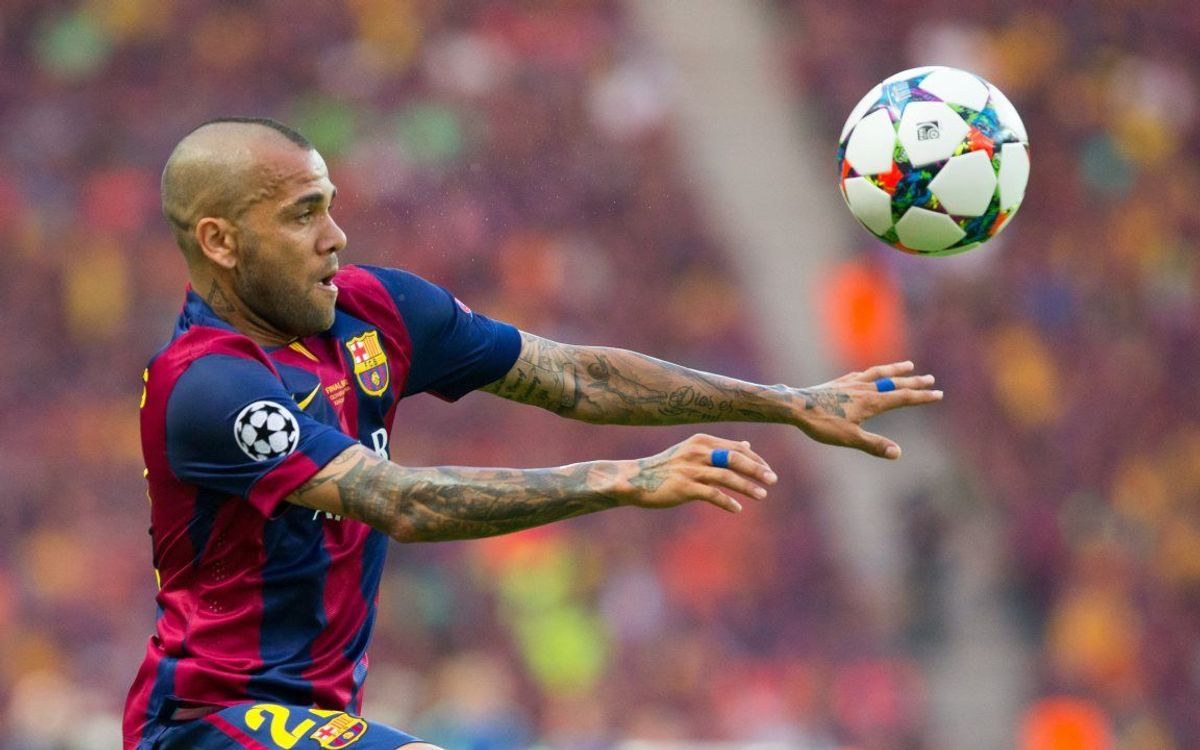 Alves appeared in the UCL Final against Juventus