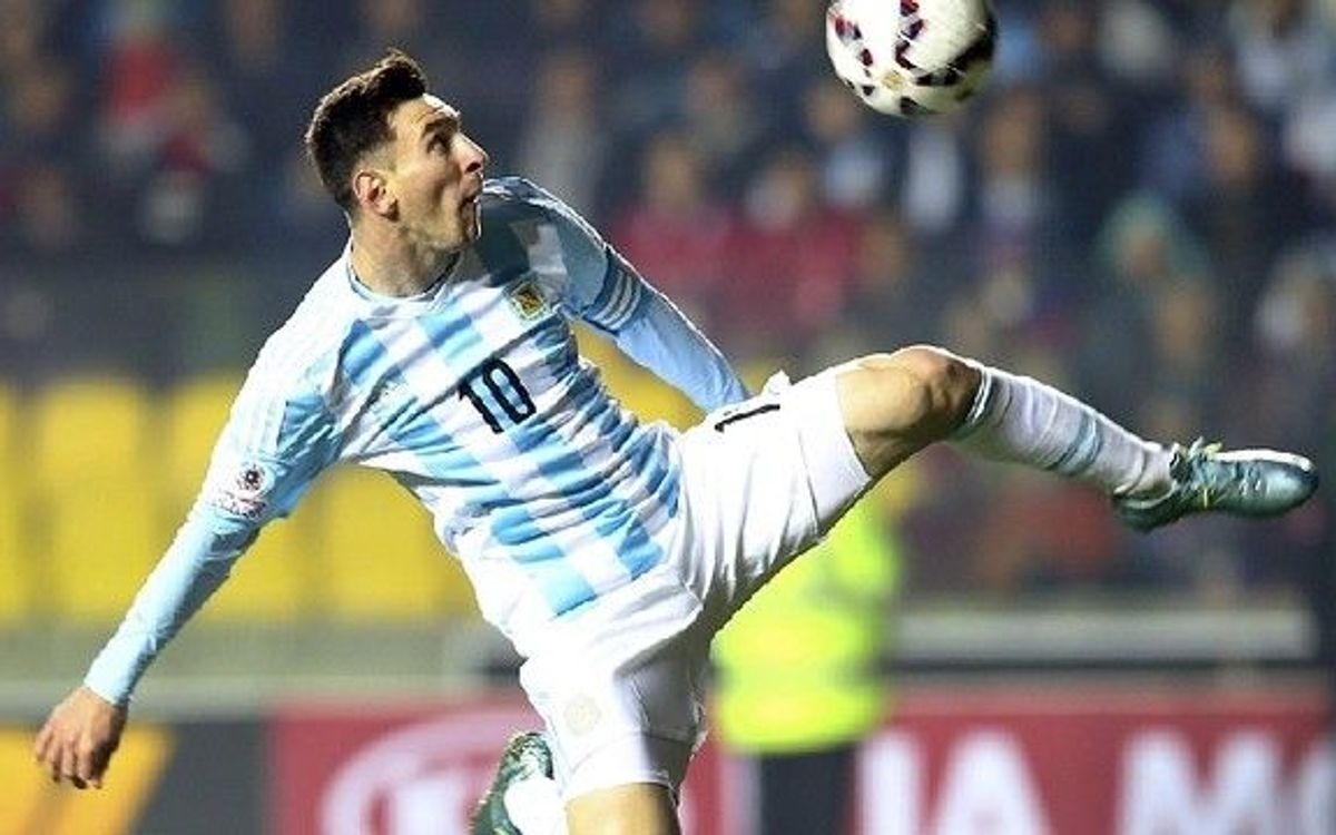 Leo Messi reacts to Argentina rout in Copa América