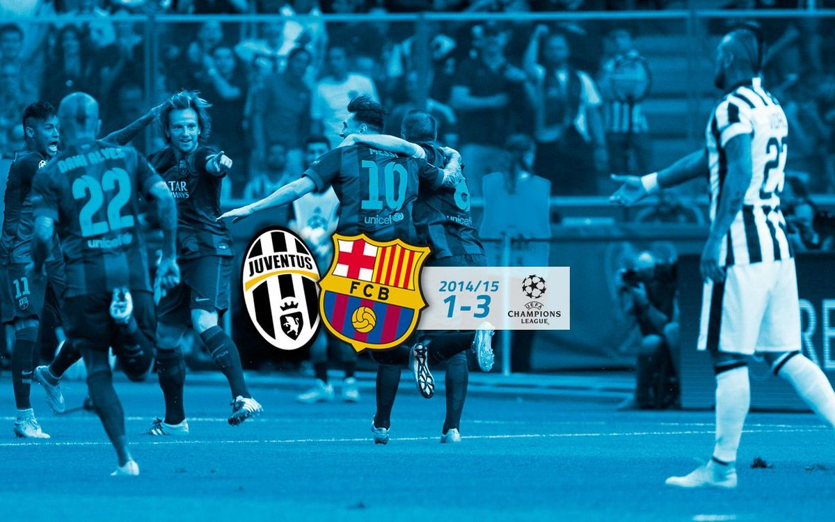 Juventus: 1 - FC Barcelona: 3 (Final Champions League)